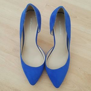BCBGeneration blue suede pumps
